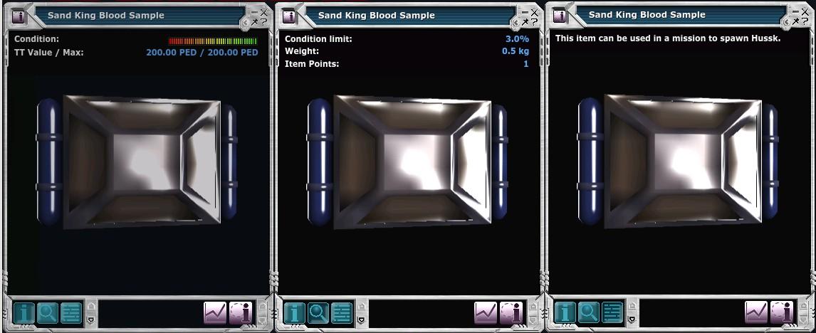 Sand King Blood Sample