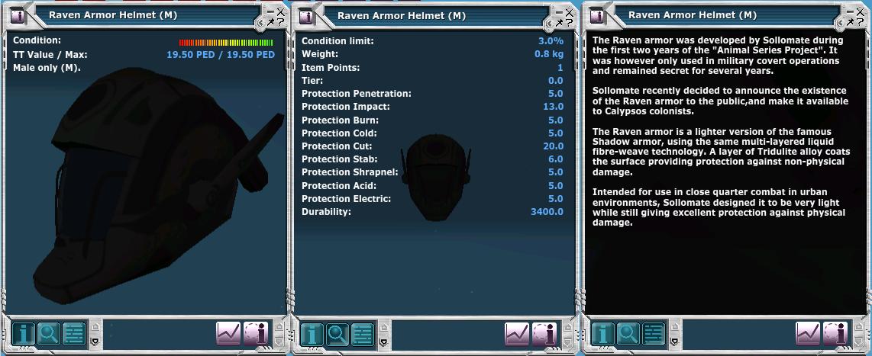 Raven Armor Helmet (M)