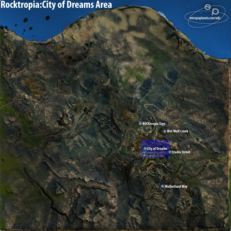 City of Dreams Area Overview Map