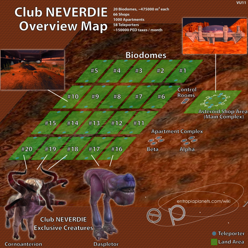 Club NEVERDIE Overviw Map VU11