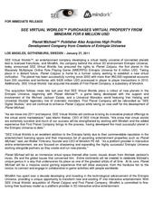SEE Virtual Worlds purchases virtual property from MindArk for 6 Million USD.pdf
