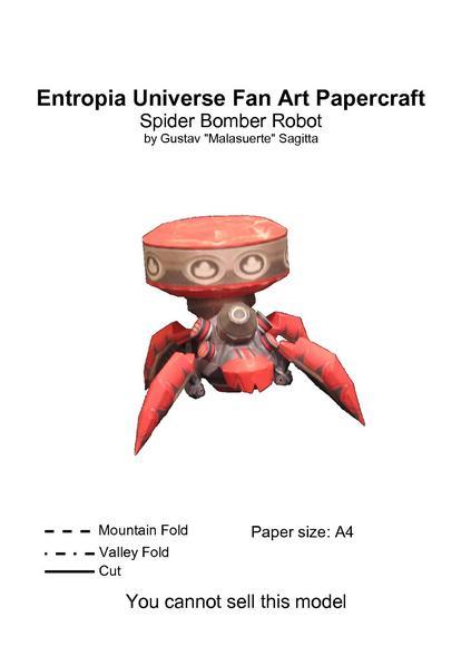 Filepapertropia papercraft spider bomber robot blueprintpdf filepapertropia papercraft spider bomber robot blueprintpdf malvernweather Choice Image