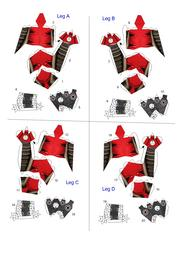Filepapertropia papercraft spider bomber robot blueprintpdf next page malvernweather Images